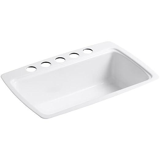 Superieur KOHLER K 5864 5U 0 Cape Dory Undercounter Kitchen Sink, White   Single Bowl  Sinks   Amazon.com