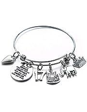 Birthday Gifts for Women Girls Bracelet, Expandable Charm Bracelets 5th 6th 7th 8th 9th 10th 20th 30th 40th 50th 60th 70th 80th 90th Birthday Friend, Mom, Daughter, Niece, Sister, Grandma