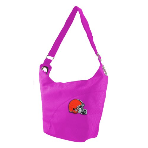 NFL Cleveland Browns Women's Color Sheen Hobo Purse, Pink