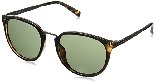 Calvin Klein R366S Round Sunglasses, Dark Tortoise, 51 mm (For Sunglasses Men Klein Calvin)
