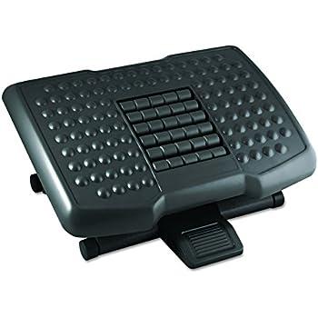 Kantek Premium Adjustable Footrest with Rollers, 4 to 6.5 Inch Height, Black (FR750)