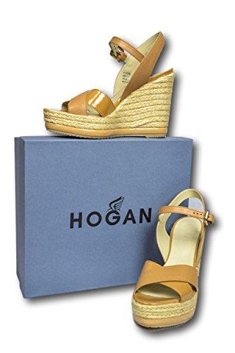 Hogan - sandali con zeppa tg. 38
