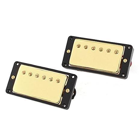 Tono 2 Pcs guitarra eléctrica LP cuello Puente Pastillas Negro Oro: Amazon.es: Instrumentos musicales