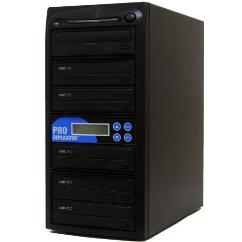 Produplicator 1 to 5 M-Disc (Permanent Data Back Up Disc) CD DVD Duplicator (with Nero Essentials Burning Software) - Standalone Duplication Tower Copier Replication Burner by Produplicator