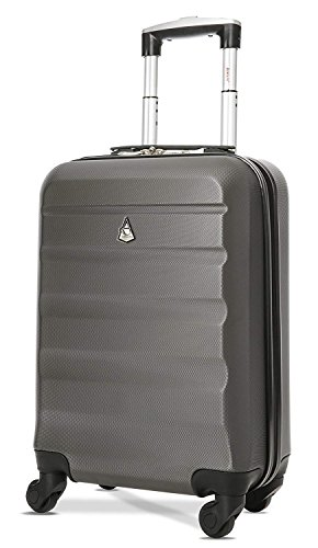 Aerolite Carry On Luggage Bag | Rolling Travel Suitcase Large Capacity | Lightweight Small Hard Shell Trolley for Men & Women | Approved by Delta, United, Southwest & Many More | 22x14x9 (All parts)