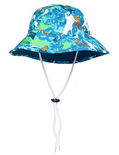 - SunBusters Boys Reversible Bucket Hat (UPF 50+), Sapphire Manta Ray, Small