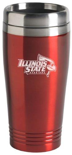 LXG, Inc. Illinois State University - 16-ounce Travel Mug Tumbler - Red