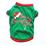 Amakunft Christmas Pet Dogs Pajamas, Cute Snowman Holiday Clothes Santa Claus Rudolph Jumpsuit
