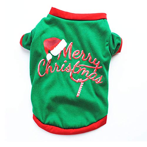 Amakunft Christmas Pet Dogs Pajamas, Cute Snowman Holiday Clothes Santa Claus Rudolph Jumpsuit for $<!--$10.99-->