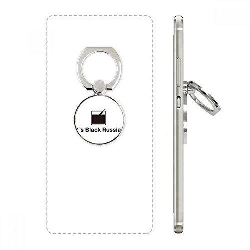 (Black Russian Cocktail Cell Phone Ring Stand Holder Bracket Universal Smartphones Support Gift)