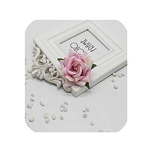 2pcs / lot Pink Artificial Rose Free Car 7cm Wedding Dresser Handwritten Rose Art DIY Wedding Flower,Light Purple 61