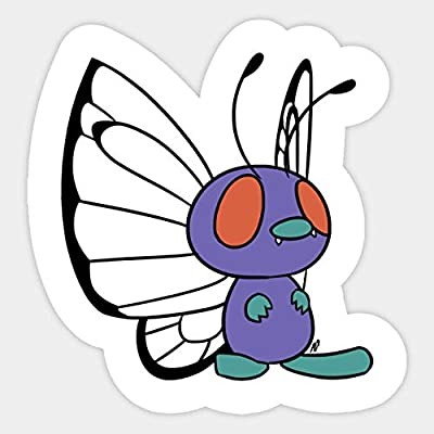 012 Butterfree - Sticker Graphic - Car Vinyl Sticker Decal Bumper Sticker for Auto Cars Trucks: Kitchen & Dining