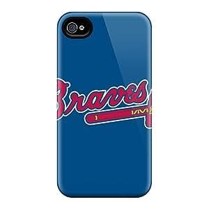 Cute Appearance Cover/tpu PYQ903QwGf Baseball Atlanta Braves 3 Case For Iphone 6