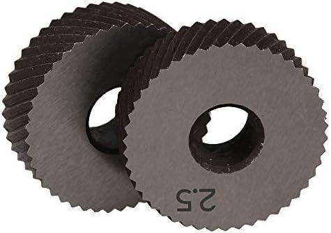 NO LOGO Rändelwerkzeug Pair of 2.5mm Wälzfräser Rad Rändelrad Strukturierter Knurled Lathe Prägeradabschnitt Werkzeugmaschinen Zubehör