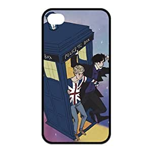 Custom Your Own Personalized Doctor Who and Sherlock Silicon iPhone 5c Case Snap-on Hard Case Cover