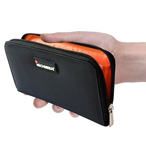 Women Wallet W05 Women Travel Clutch Passport Wallet Black With Rfid Blocking By Igogeer Buy