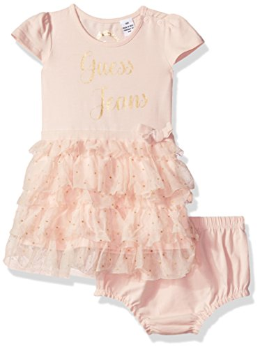 Guess Baby Clothes - GUESS Baby Girls' Ruffle Dress, Wilder Pink 12M