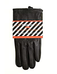 Men's Luxurious Genuine Leather with Cashmere Lined Gloves, Size Large