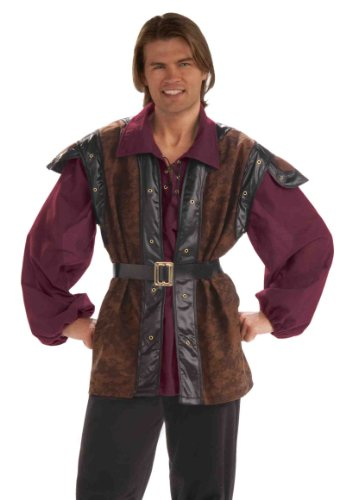 Prince Halloween Costume For Men (Forum Medieval Mercenary Deluxe Costume, Multi Color, Standard)
