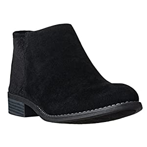c712282b878fb Riverberry Women's JENA Cut Out Style, Low Heel Ankle Bootie Boots, Black  Suede, 8