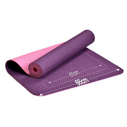 Aoyi Sports antidérapant Tapis de yoga par Aoyi Sports écologique TPE entraînement Tapis d'exercice anti-déchirure chaud Tapis de Pad de pilates gym en Home 6mm d'épaisseur