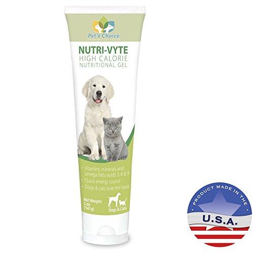 Pet's Choice Pharmaceuticals Nutri-Vyte High Calorie Nutrition Gel for Dogs & Cats, 5 oz, 3 pk