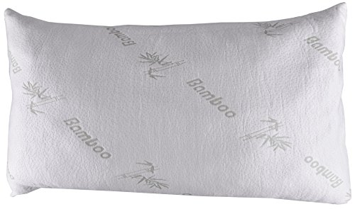 """Price comparison product image Pillow-z Queen Size Bamboo Pillow - Premium Quality Filled with Shredded Memory Foam and Soft Cover Sleep Comfortable and Wake up Relaxed 29.5"""" By 20 Inch"""