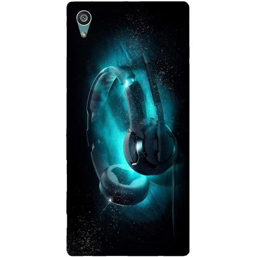 Casotec Cool Headphone Design Hard Back Case Cover for Sony Xperia Z5 Dual