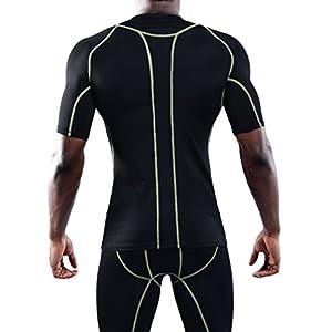 Neleus Men's 3 Pack Dry Fit Sport Compression Shirt,801,Grey,Blue,Black,US XL,EU 2XL