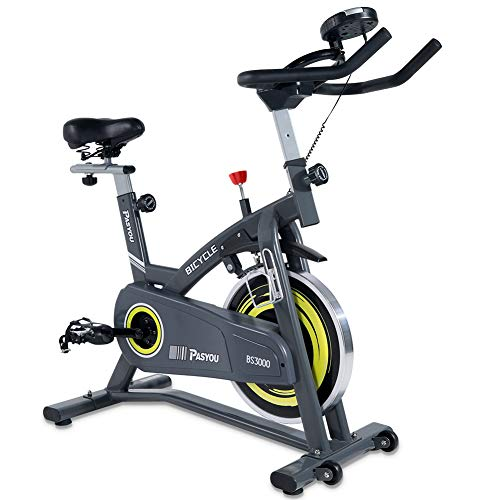 PASYOU Belt Drive Indoor Cycling Bike Stationary Cycle Bike, Exercise Bike with Magnetic Resistance for Home Cardio Workout Bike Training