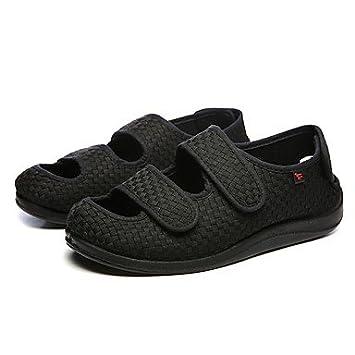 3089a5d2db26b SHUAIGUO shoes Sandales Homme Marche Homme Chaussures Tissu Printemps  Automne Confort Sandales Pour Décontracté Noir, us7
