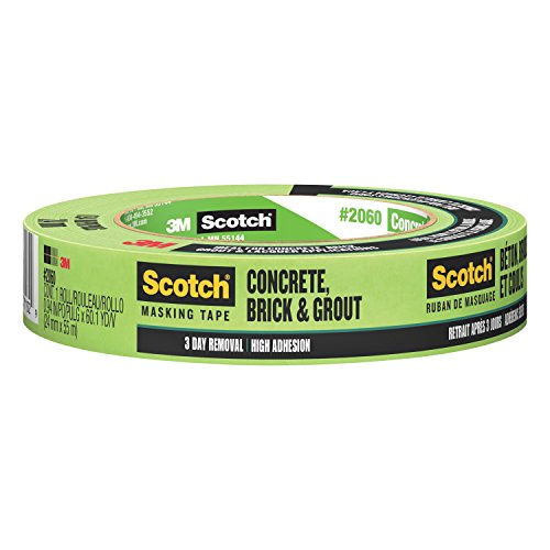 3M 2060 Scotch - Cinta de carrocero para superficies difíciles de pegar, 1 Inch x 60 Yards, Verde