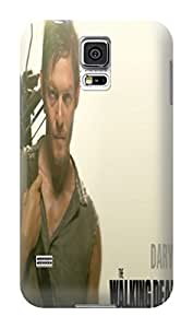 Keke Green New dirtproof tpu skin back cover with texture for Samsung Galaxy s5 (The Walking Dead Daryl Dixon)