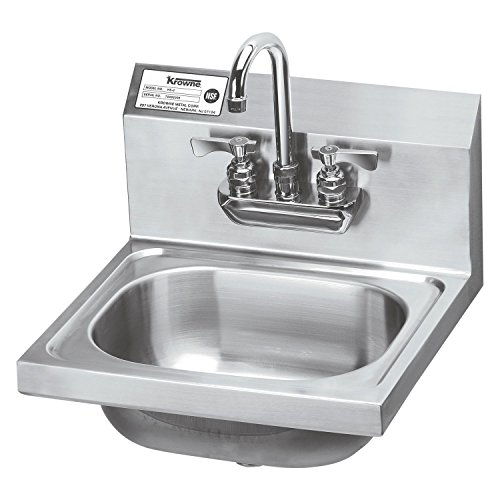 Krowne 16'' Wide Hand Sink with Heavy Duty Faucet, HS-22 by Krowne