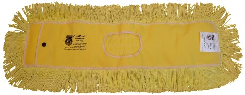 Zephyr 12366 Pro-Blend Yellow Dust Mop Head, 60'' Length x 5'' Width (Pack of 6) by Zephyr