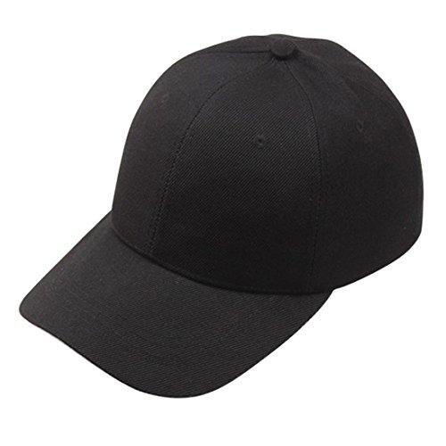 Xinantime Sombrero, Gorra de Béisbol para Gente Joven Sombreros Ajustable (Negro): Amazon.es: Deportes y aire libre