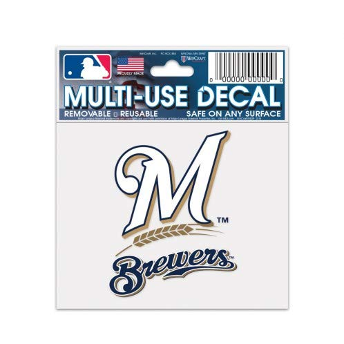 (Wincraft Milwaukee Brewers Multi-Use Decal 3