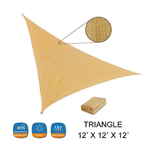 zimo Sun Shade Sail UV Block Sunshades Depot Triangle Canopy Sail Shade for Yard Patio Garden (Triangle)