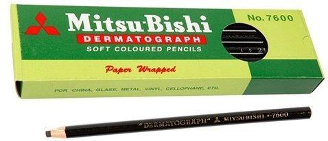 Mitsubishi Dermatograph 12 Black Pencils/box