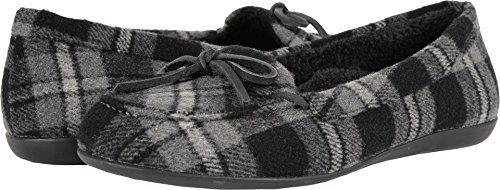 Vionic Womens Ida Slipper Grey Plaid Size 5 (Canvas Plaid Footwear)