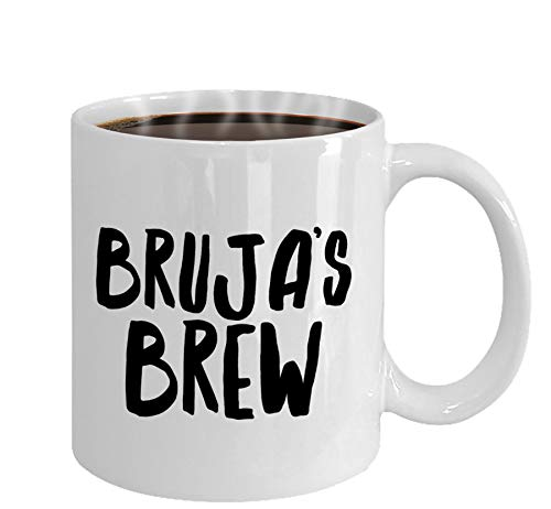 Bruja's Brew Mug, Spanish Witch, Witchy Gifts, Witch Mug, Bruja Mug, Halloween Party, Dark Art, Goth Gift, Latina Witch, Gift for Latinas, 11oz, 15oz, gift, present]()