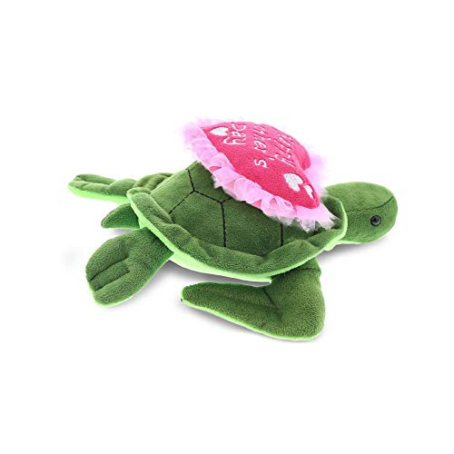DolliBu Happy Mother's Day Stuffed Animal, Heart Message for Best Mommy, Grandma, Wife, Step Mom, Mama - Cute Soft Adorable Sentiment Plush Teddy Bear - Surprise Present Gift Arrangement - Sea Turtle - Mama Bear Teddy