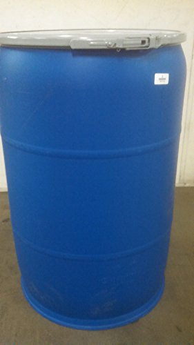 Gurman, 55 Gallon RECONDITIONED Plastic Open Top Drum - Blue