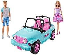 Barbie - Muñeca y Ken con coche todoterreno, muñecos con accesorios (Mattel GHT35) , color/modelo surtido