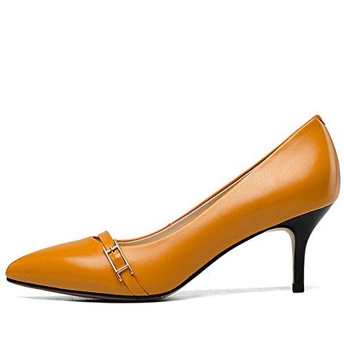 Sandalias naranja mujer con SevenHeels Nine cuña aPAvqv