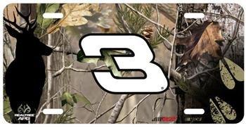 (Dale Earnhardt NASCAR Realtree Metal License Plate )