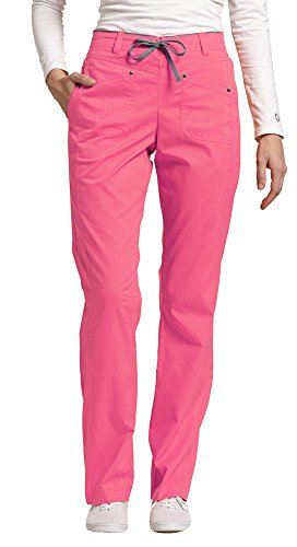 Pkt Drawstring (Allure by White Cross Women's Flat Front Drawstring Pant Small Petite Pink Cocktail)