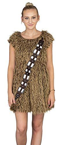 Star Wars I Am Furry Chewbacca Chewie Juniors Brown Skater Dress (Juniors 3X-Large) ()