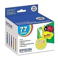 T077920 (77) High-Yield Ink, Cyan; Light Cyan; Light Magenta; Magenta; Yellow from EPSON AMERICA, INC.
