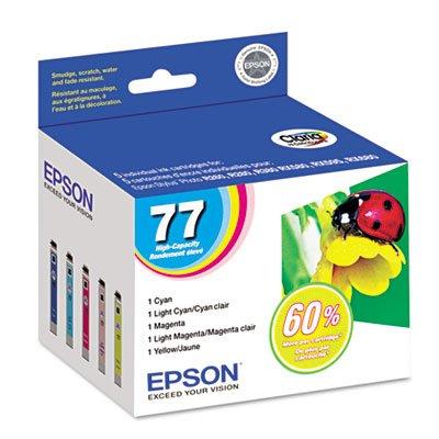 T077920 (77) High-Yield Ink, Cyan; Light Cyan; Light Magenta; Magenta; Yellow